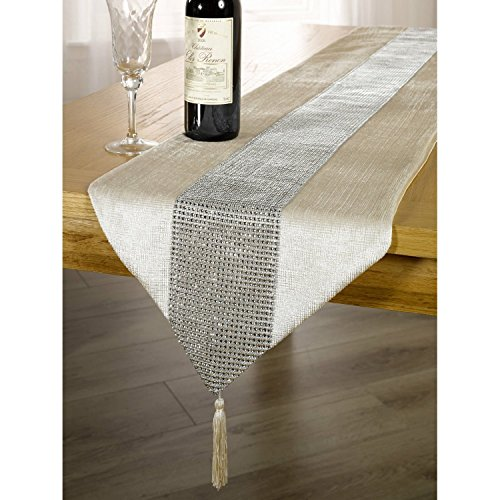 DegGod La moda europea simple de corredor mesa banquete diamante upscale home decor Classic coffee table cloth (Beige)