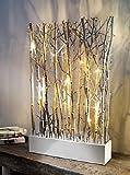 Unbekannt LED Zweige Natur Leuchtzweige Deko Weidenzweige + Beleuchtung Halterung 45cm