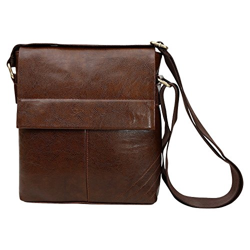 "Sphinx ""Sampre"" Mens Cross-Body Sling Bag (25 x 22 x 7 CM)(Dark Brown)"