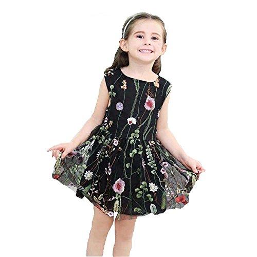 JUTOO Kinder Infant Kind Mädchen Blumenstickerei Net Garn Prinzessin Tutu Kleid Kleidung ()