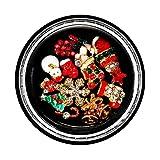 Mitlfuny Beauty Makeup,1 Schachtel Weihnachten Shell Dazzling Nail Sticker Pailletten Bunte Nail Art Dekoration