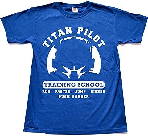 Titan Pilot Training Schule BLAU T shirt Large