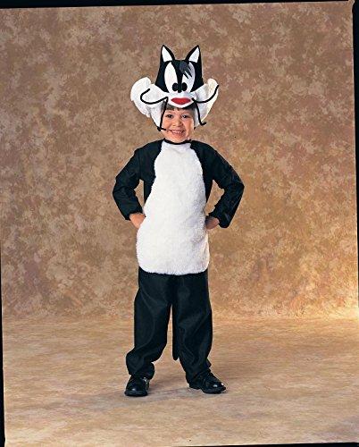 Looney Tunes Sylvester Katzen Kinderkostüm Katzenkostüm Kostüm Katze für Kinder Tier Tierkostüm Gr. 92 - 134, Größe:M (Sylvester Katze Kostüm)