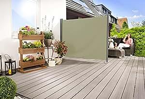 Seitenmarkise 'slim' Sichtschutz Sonnenschutz Windschutz in verschiedenen Größen anthrazit oder cremeweiß