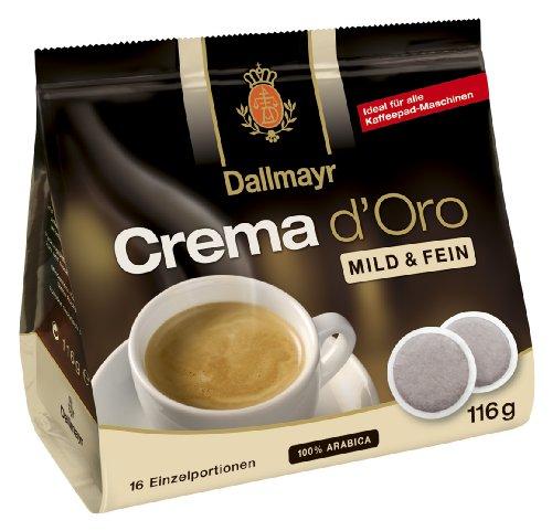 Crema d'Oro mild und fein Pads 116g - 5er Karton ( 5 x 16 Pads)