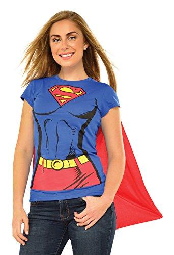 Supergirl T-Shirt-Kostümset für Damen, Größe XL ()