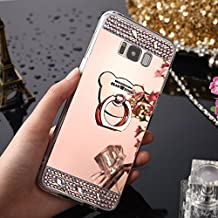 Galaxy S8 Plus Coque Silicone,Samsung S8 Plus Housse de Protection,Galaxy S8 Plus Case Original,Felfy Souple Luxe Ultra Slim Cristal Clair Bling Brillant Miroir Ours Ring Stand Holder TPU Silicone Coquille Luxury Coque pour Fille Soft Gel en Caoutchouc Bumper Housse Pailletee Strass Back Shockproof Anti Scratch Cover pour Samsung Galaxy S8 Plus + 1x Silver Stylus + 1x Bling Dust Plug [Couleur Aléatoire]