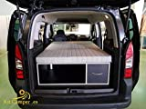 Mueble Kit Camper con colchón para Berlingo, Partner (negro)