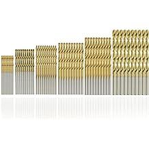 SYCEES 60pcs HSS Micro Bohrer Set 1/1,5/2/2,5/3/3,5mm Titanium Metallbohrer Spiralbohrer Bohrersets Werkzeuge