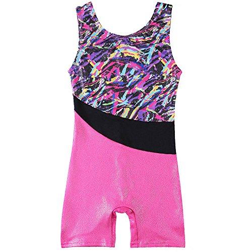 HUANQIUE Ärmellos Gymnastik Turnanzug Mädchen Leotard Body Kinder Multicolor 110