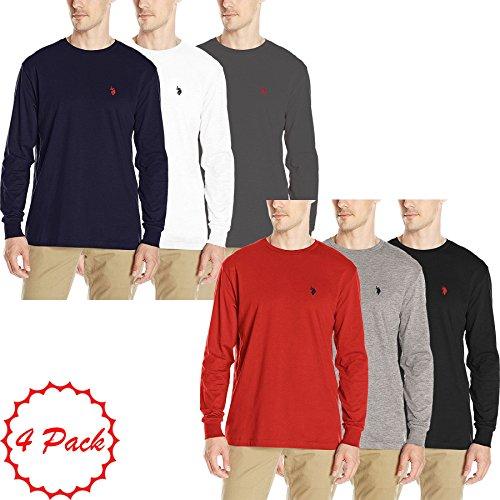 U.S.POLO ASSN. Mens Pack Of 3 US Polo ASSN Round Neck Top Full Sleeve Summer Regular Fit Shirt