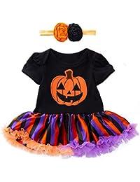 iYmitz Kleinkind Baby Mädchen Halloween Kürbis Bogen Party Kleid Kleidung Kleider