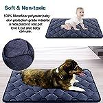 Hero Dog Dog Bed Extra Large Washable Crate Mattress 47 Inch, Soft Non Slip Pet Fleece Cushion Pad Blue XL 13