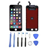 FoxSay Écran LCD Display pour iPhone 6, Écran Tactile de Remplacement LCD Retina Display Complet pour iPhone 6 (4.7 Pouces) avec outils de réparation (Noir)