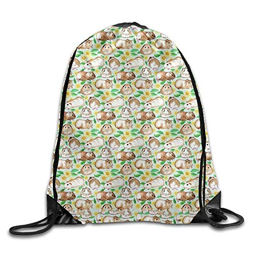 Guinea Pig Cartoon Girls Drawstring Backpack Large Capacity String Bags Hiking - The North Face Insulated Belt