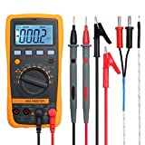 Multimeter Neoteck 4000 Counts Auto Manual Ranging Digital Multimeter AC/DC Voltage Current Resistance Capacitance Frequency Temperature Multi Testers Voltmeter Ammeter Ohmmeter Ampere Meters with Backlit LCD for School Laboratory Factory Radio-Technology and other Social Fields