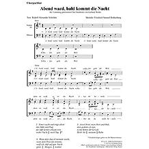Abend ward bald kommt die Nacht: für gem Chor (SAM) a cappella