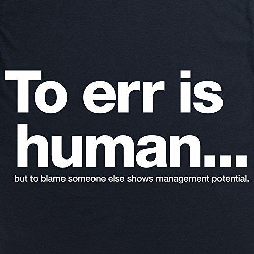 Management Potential T-Shirt, Herren Schwarz