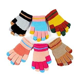 Kinder Stricken Handschuhe für Baby Mädchen Jungen Kleinkinder Outdoor Sports Thermal Handschuhe Warmer 10 Paket