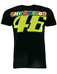 Valentino Rossi VR46 Moto GP The Doctor Negro Camiseta Oficial 2017