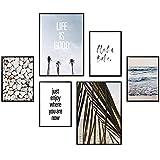 Heimlich Premium Poster Set | Stilvolles Set mit passenden Bilder als Wohnzimmer Deko | 2 x DIN A3 & 4 x DIN A4 - ca. 30x40 & 20x30 | Auch mit Bilderrahmen » Aloha Babe «