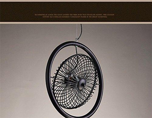 HEYUN araña de ventilador de la lámpara del vintage país de América araña de hierro forjado de barra de bar cafetería industria eólica araña