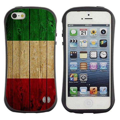 Graphic4You Italien Italienisch Flagge Anti-Rutsch Stoßfeste Hülle Weichen Case Tasche Schale Schutzhülle für Apple iPhone SE / 5 / 5S Design #3
