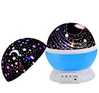 Night Light Stars,SCOPOW Dimmable Rotation Night Lamp Rotating Universe Sky Moon Sun Star Night Lighting Nursery Projector Gift for Decor Kids Baby Bedroom Sleepy ¡­ by SCOPOW