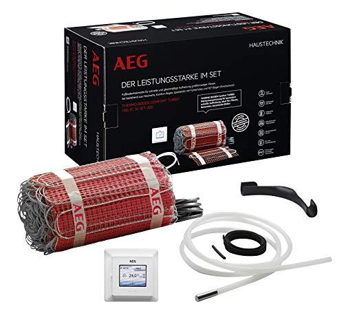Thermostat-boden (AEG THERMO BODEN, Comfort Turbo-Heizmatten-Set, Heizleistung: 200W/m², Verlegfläche: 1,5 m², Breite: 30 cm, TBS TC 30 200/1,5 T, 234353)