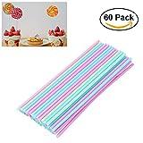OUNONA 60 Cake Pop Sticks 15 cm,Pastellfarben,Kitchencraft,Kunststoff Stiele...