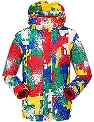 XLHGG Vêtements pour enfants Camo Venture Veste Coupe-vent imperméable à l'eau Jacket(Warm two-piece)