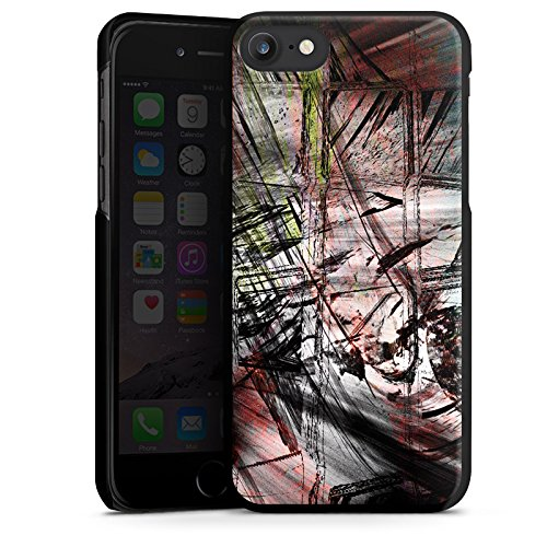 Apple iPhone X Silikon Hülle Case Schutzhülle Grunge Abstrakt Graffiti Hard Case schwarz