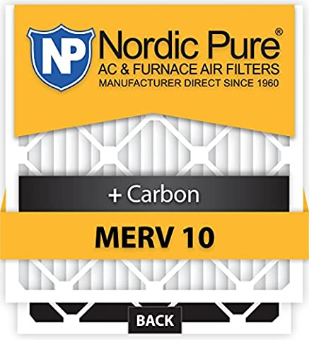 Nordic Pure 16x25x5HM10+C-1 Honeywell Replacement MERV 10 Plus Carbon by Nordic Pure