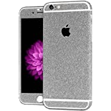 Heartly Sparking Crystal Diamond Protective Film Whole Body Phone Skin Sticker For Apple Iphone 6 Plus / 6S Plus 5.5 Inch - Champagne Silver