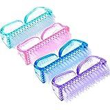 Rocita Cepillos de Uñas,Cepillo Limpieza de Uñas de Plástico y Suave herramienta para limpiar polvo(color aleatorio/2pcs)