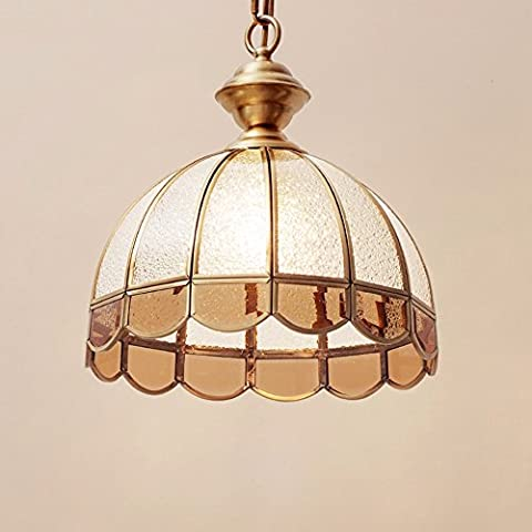 GZLitht Lampes Suspendues Pendentif Toutes les lentilles en verre rétro Cuivre Le Corridor Restaurant,30*32cm