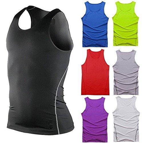 51hsWQ2KMsL. SS500  - L&L® Mens Sports Compression Base Layers Tops Tight Tank T-Shirts Vests