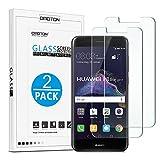 Huawei P8 Lite Cristal Templado OMOTON [2Unidades] Protector de Pantalla Huawei P8 Lite [2017 Publicado][2.5d Borde redondo]con[9H Dureza][Garantía de por vida]