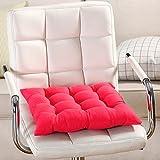 Cuscino per sedia, 9colori, lavabile, per sala da pranzo, giardino, cucina, auto Taglia libera Red