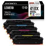 4 LEMERO Kompatibel für HP CF410X CF411X CF412X CF413X 410X Toner für HP Color Laserjet M452DW M452DN M452NW M477FDW M477FDN M477FNW Drucker,Schwarz Cyan Magenta Gelb