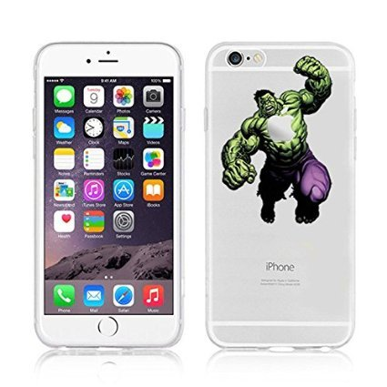New Marvels Avenger Transparent Clear TPU Soft Case For APPLE IPHONE 8 SCARLET WITCH HULK 1