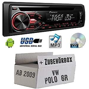 VW Polo 6R - Pioneer DEH-1800UB - CD/MP3/USB Autoradio - Einbauset