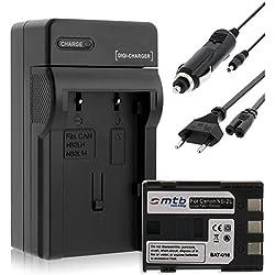 Batterie + Chargeur (Auto/Secteur) pour Canon NB-2L / EOS 350D 400D / Rebel XTi/DC. MD. MV. - v. liste