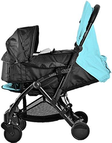 Pack Duo Nacelle Trinity 2 Kinderwagen, ultraleicht, 5,5kg, ultrakompakt, Transporttasche, Flugzeug, leicht, 2 kg, zusammenklappbar, 0/9 kg, Blau