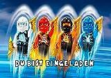 TV-24 Lego Ninjago Einladungskarten 6er Set inkl. 6 Umschläge E4