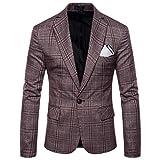 LIMITA Casual Plaid Business für Herren Hochzeitsanzüge Slim Fit Blazer mit Revers Outwear Mäntel