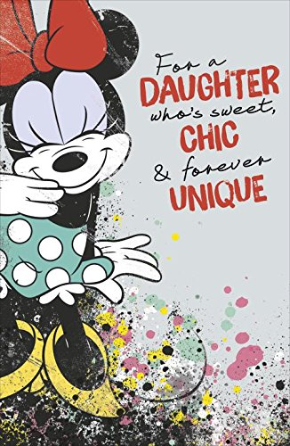 Image of Minnie Mouse Daughter Birthday Card