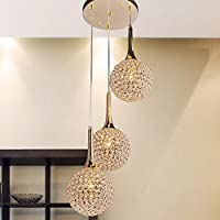 Aututer European Style 3 Crystal Chandelier Luxury Living Room Bedroom Restaurant Hanging Lights Hotel Gold Candle Ceiling Lamps [Energy Class A ++]