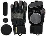 Osprey Longboard, Downhill, Freeride Slide Gloves with Removeable Pucks Mixte Enfant, Noir, Large