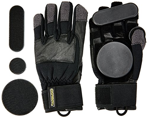Osprey Longboard, Downhill, Freeride Slide Gloves with Removeable Pucks Mixte Enfant, Noir, Small